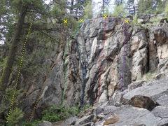 Rock Climbing Photo: Middle Cliff topo
