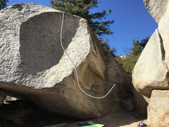 Rock Climbing Photo: Snowflake problem on the unk boulder (next to Drag...