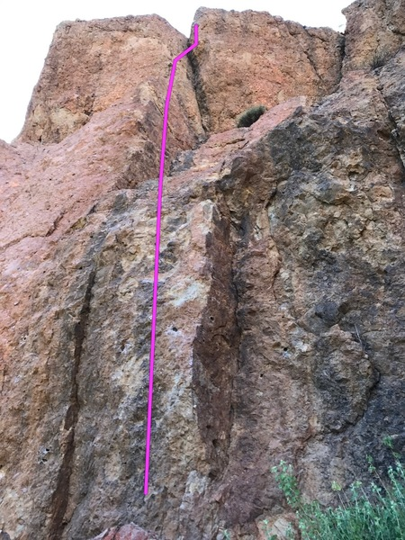 Rock Climbing Photo: Beta photo of route standing at belay
