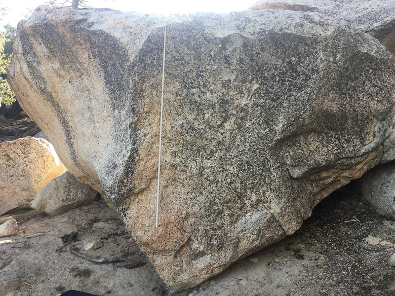 Rock Climbing Photo: Unnamed V1 arete on the G Boulder