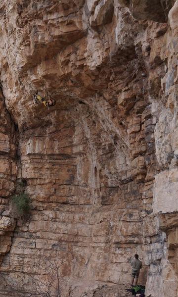Rock Climbing Photo: Toehookin'