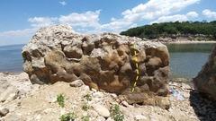 Rock Climbing Photo: We had a good time on a short but fun v0 involving...