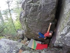 Rock Climbing Photo: The Arete ~V5 variation.