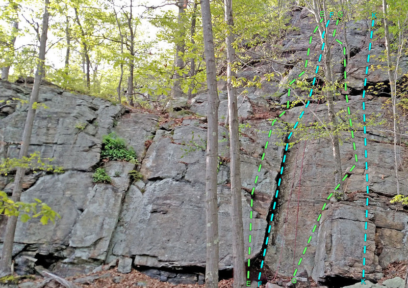 Rock Climbing Photo: The Shelves E. Faust F. Mephistopheles G. Marga...