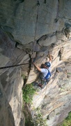 Rock Climbing Photo: Nearing the anchors on P2