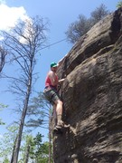 Start of the route, can set up a top rop by climbing up the standard route then rapping down the route