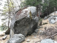 Rock Climbing Photo: Upriver face of One Way Boulder