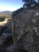 Rock Climbing Photo: Victor taking a nap on top of the Sword of Damocle...