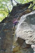 Rock Climbing Photo: After the crux, Rocketman is an easy cruise to the...