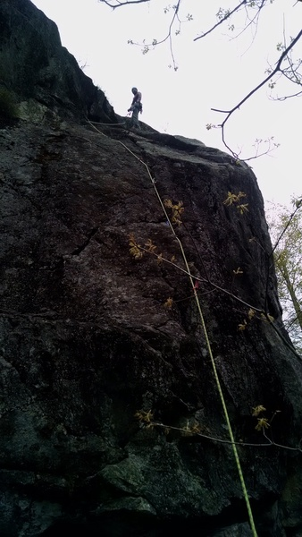Rock Climbing Photo: My first trad lead! Very memorable! Dirty top!