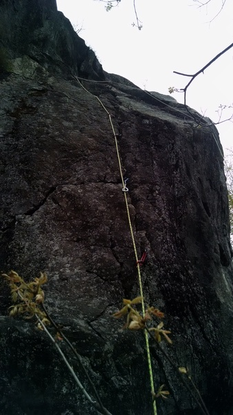Rock Climbing Photo: After my first trad lead! Now, I think I am really...