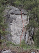 Rock Climbing Photo: Steppin In topo
