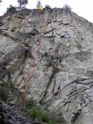 Rock Climbing Photo: Eagle Scout topo
