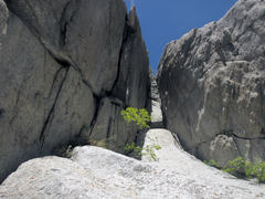 Rock Climbing Photo: Fat Man's Misery. Awkward to place gear, and fairl...