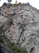 Rock Climbing Photo: Upper West face topo
