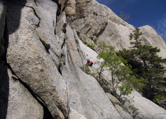 Rock Climbing Photo: Looking back on the traverse from 'Fat Man's Ledge...