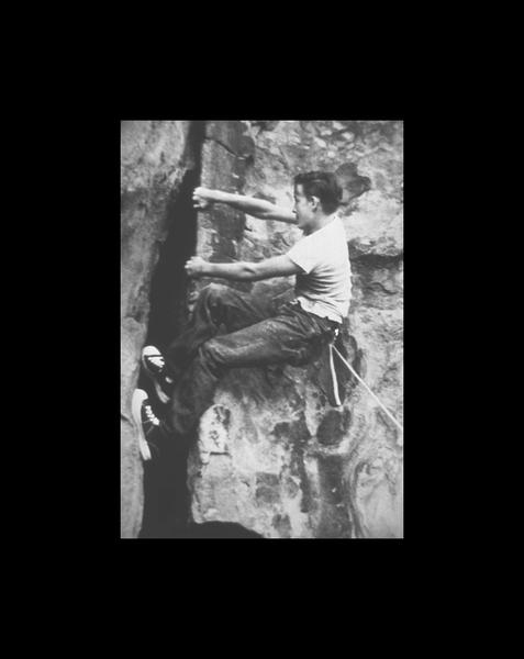 Royal Robbins Climbing Black's Crack at Stoney Point