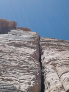 """Rock Climbing Photo: Looking up """" The money pitch """""""