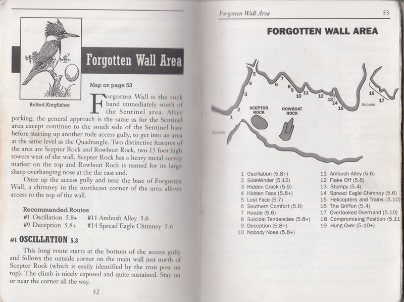 Rock Climbing Photo: Map of the Forgotten Wall area from the 1986 River...