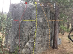 Rock Climbing Photo: Notice the large jugs that mark the start. Very fu...