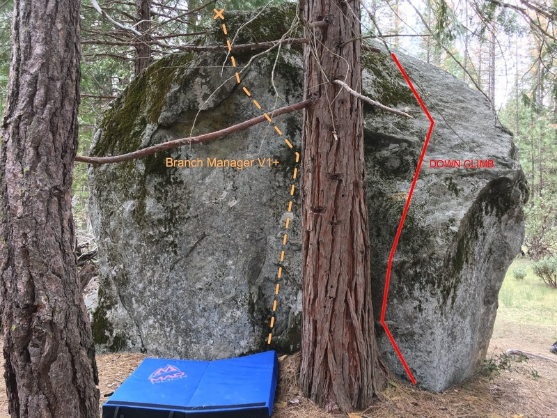 Rock Climbing Photo: Downclimb to the right, Branch Manager V1/2 to the...