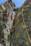 Rock Climbing Photo: Prominent corner system below the iconic cliff top...