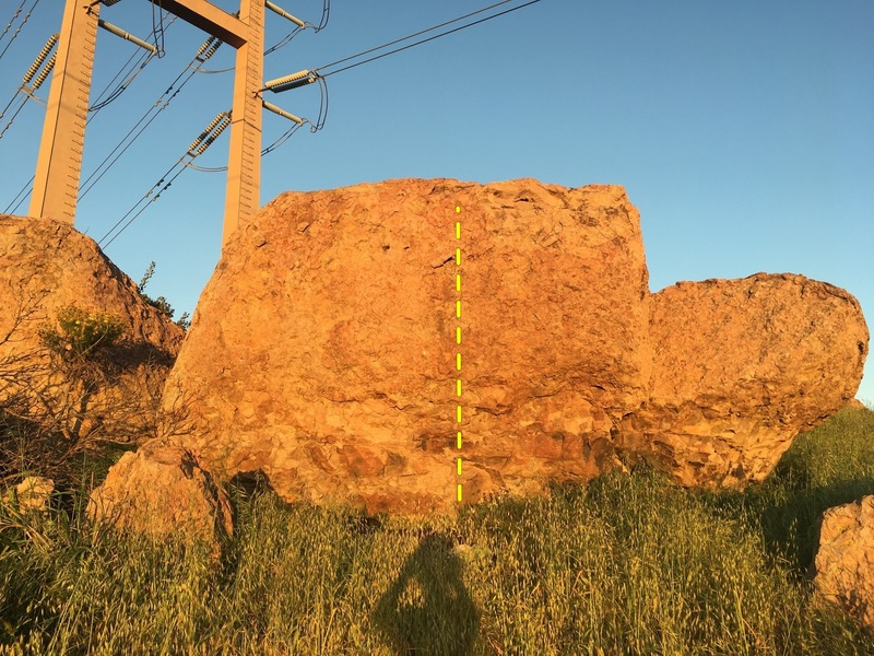 Rock Climbing Photo: Line is right smack in the middle of this boulder