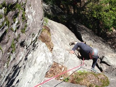 Rock Climbing Photo: end of pitch one