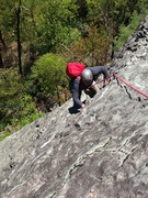 Rock Climbing Photo: cleaning pitch 4
