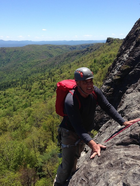 Rock Climbing Photo: end of pitch 4 140 feet starting to look for the s...