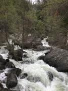 Rock Climbing Photo: The rapids below the Chilnualna Falls, feeding int...