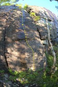 Rock Climbing Photo: Sirloin Tips (5.12b). Very foreshortened. The firs...