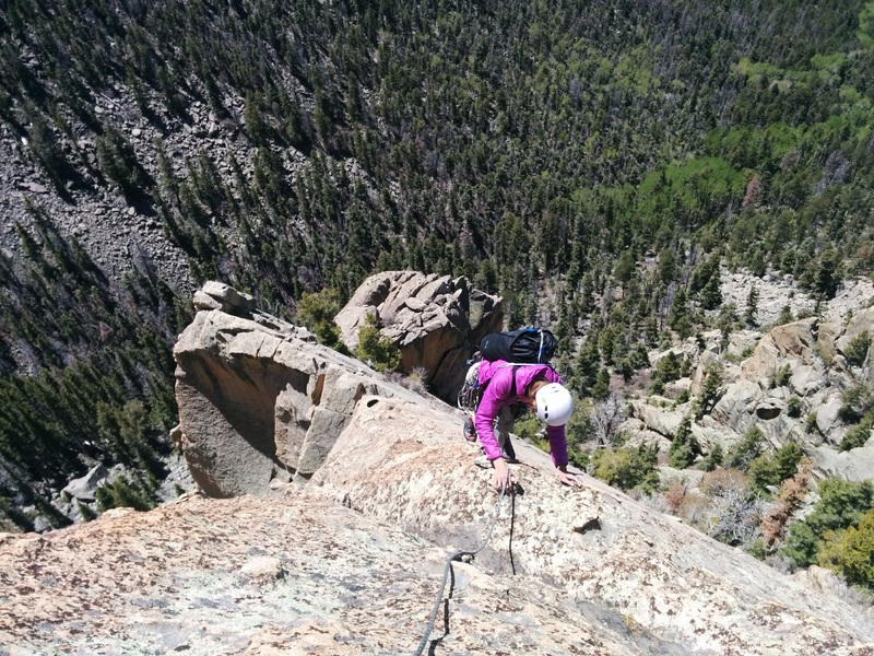 Nearing the summit of the Questa Flatiron