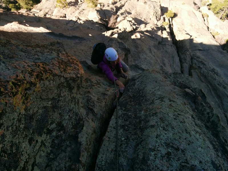Rock Climbing Photo: The hand crack just before the second belay