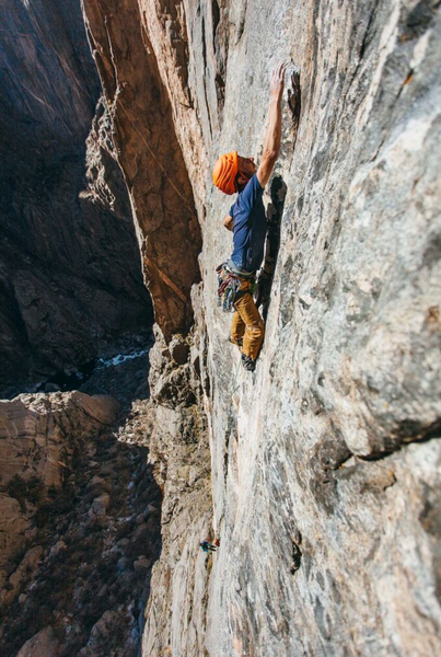 The move of the route. Spicy!<br> <br> Photo by the talented Alton Richardson.