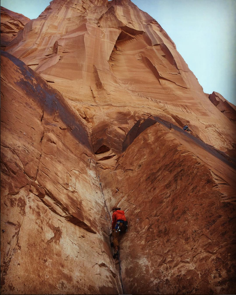 Rock Climbing Photo: Leading Top 40