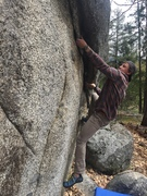 Rock Climbing Photo: Tackling the opening moves of Bloody Tourists. Bas...