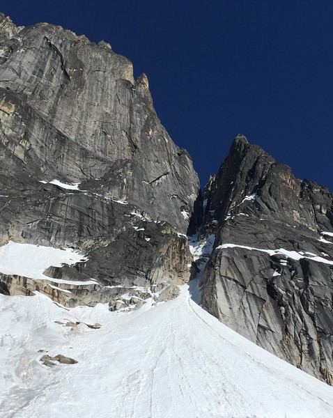 Freezy Nuts Couloir, tucked back there in the shade.