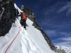 Rock Climbing Photo: Above the col, on the way to the top of the ear. D...