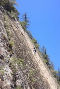 Rock Climbing Photo: Climbers on the second pitch of Ending Crack