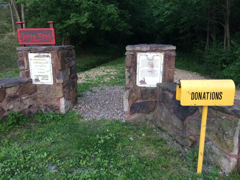 Quetil Trailhead, donate are much appreciated.