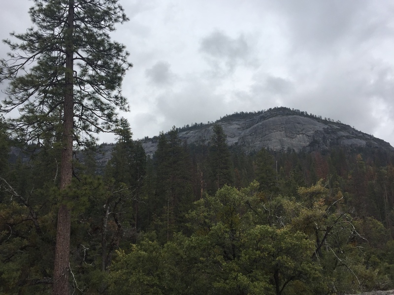 Rock Climbing Photo: Wawona Dome looms ahead on the trail to Upper Chil...