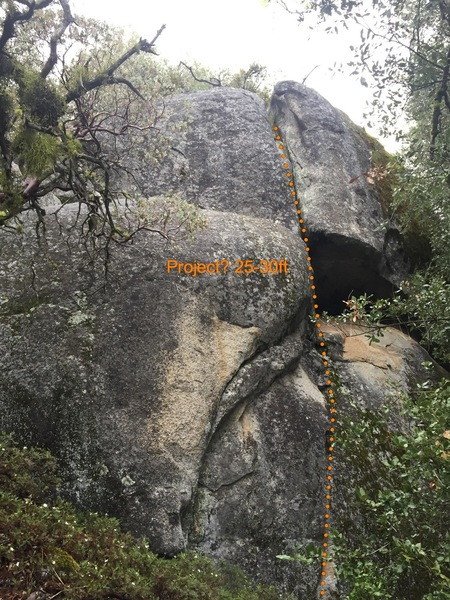 Rock Climbing Photo: Another outcropping of rock a bit lower on the tra...