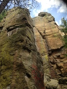 Rock Climbing Photo: Y-Crack Wall at Necedah WI.