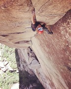 Rock Climbing Photo: JAG on the amazing 3rd pitch crux corner