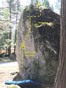 Rock Climbing Photo: Climb the north (non-mossy face) until the holds r...