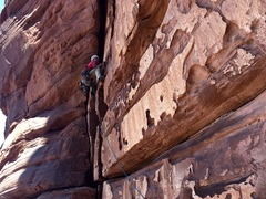 Rock Climbing Photo: Bob Rotert on Pitch 3 