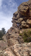 Rock Climbing Photo: Looking up the ramp on the South side.  This is th...