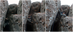 Rock Climbing Photo: Interesting chimney exit sequence on the left exit...