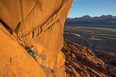 Rock Climbing Photo: P2 after the bolts on the face. Photo by Dan Kraus...